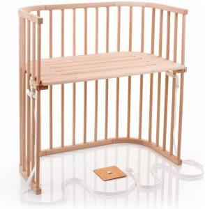 cuna de madera y colecho babybay