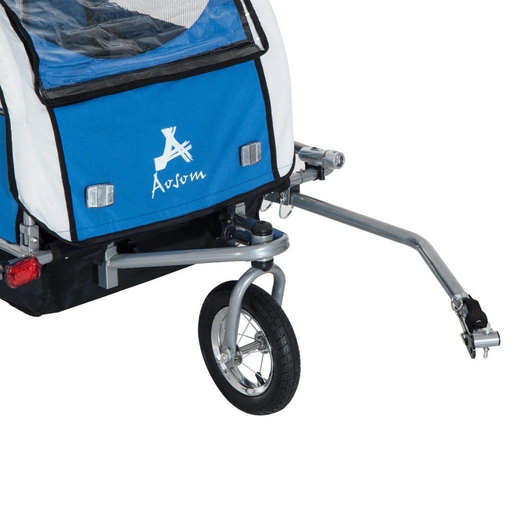 Remolque infantil para bicicleta Aosom Elite II 3 en 1