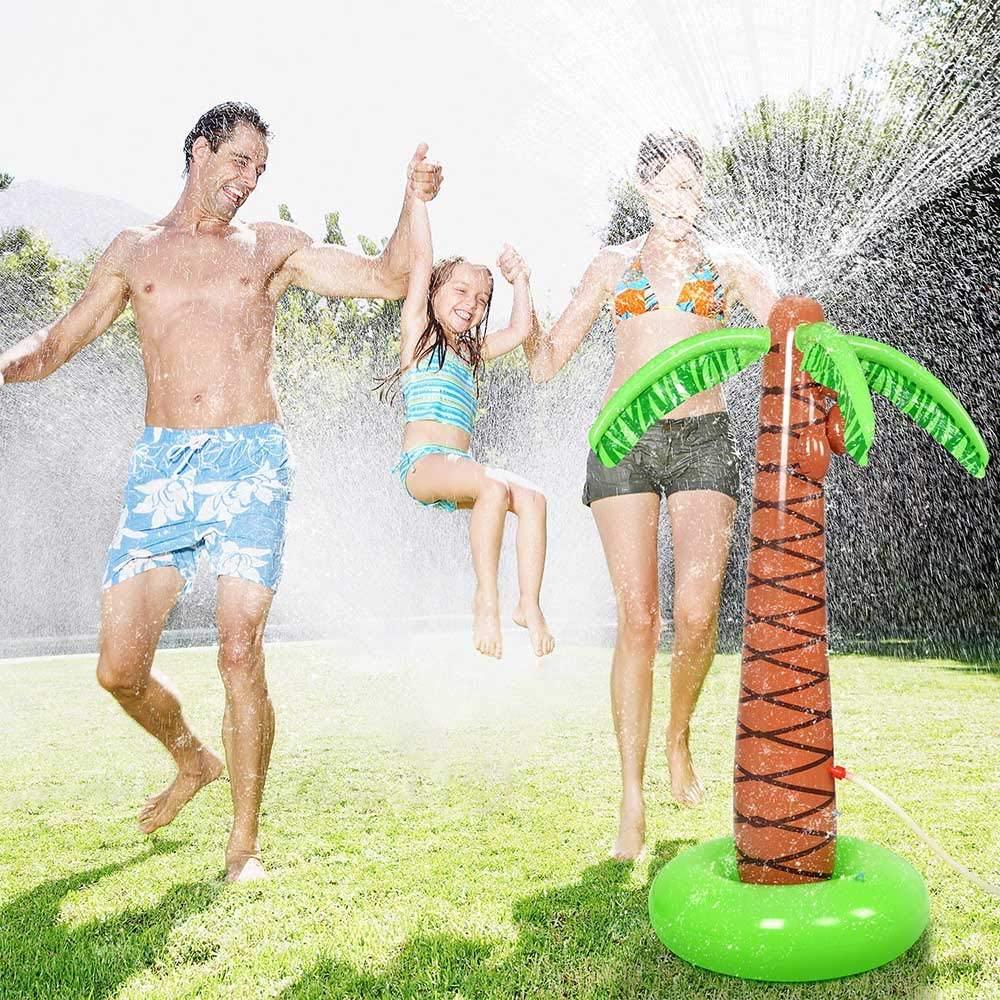 Palmera inflable con rociador de agua