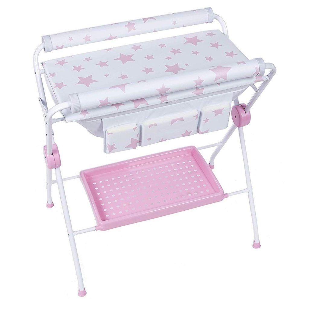 Bañera bebé plegable plastimyr estrellas rosa