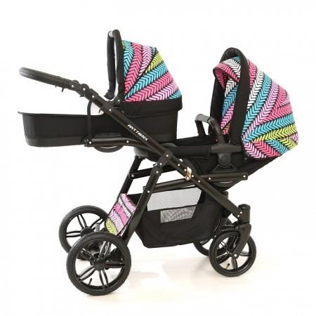 Carro Gemelar BBTwin Onyx Tandem con capazo y silla de paseo