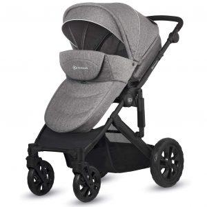 Carrito de bebé Prime Lite con silla gris